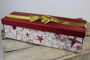 Bordová darčeková krabica na víno 34cm