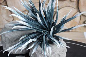 Modrobiely umelý penový kvet 95cm