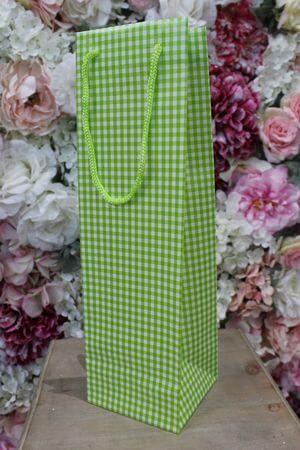 Zelená károvaná darčeková taška 36cm