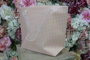 Marhuľová károvaná darčeková taška 31cm
