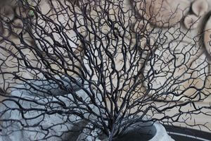 Hnedý umelý koral 55cm