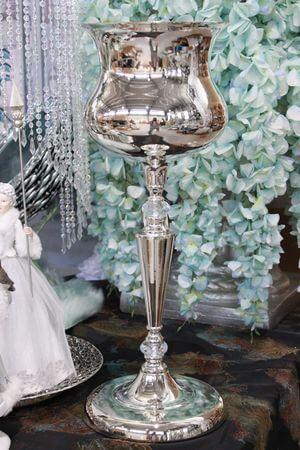 Strieborná luxusná váza 58 cm