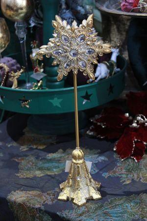 Zlatý cársky dekoračný svietnik 41cm