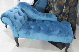Modrá elegantná Chesterfield leňoška