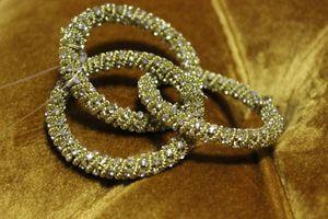 Zlaté krúžky na servítky 5 cm