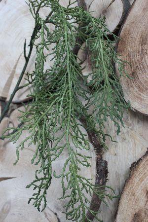 Zelená umelá koralovitá rastlina 95cm