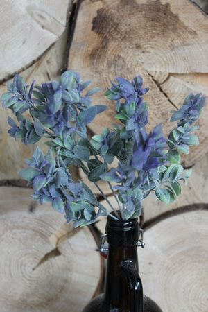 Fialovo zelená umelá rastlina buxusu 35cm