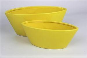 Žltá keramická lodička 26 cm