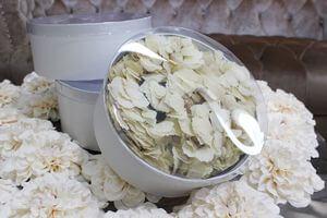 Biele okrúhle kvetinové flower boxy 3-set