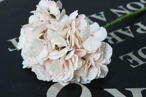 Lososová umelá hortenzia na stonke 34cm