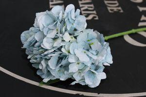 Bledomodrá umelá hortenzia na stonke 34cm