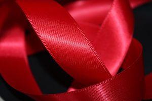 Červená saténová stuha 2cm 50m