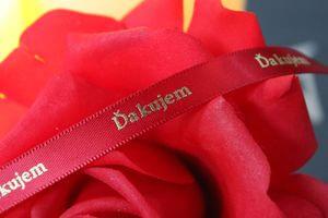 Červená stuha 1cm s nápisom Ďakujem