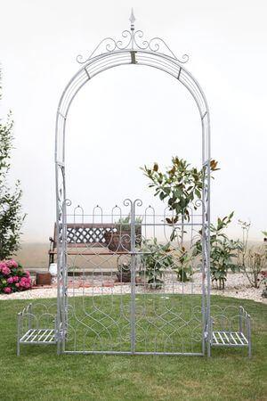 Sivá záhradná pergola na kvety Romance