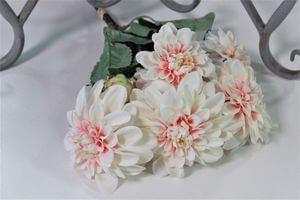 Ružová svetlá umelá kytica dalie 43cm