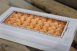 Marhuľové mydlové ruže 50ks 6cm