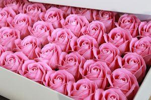Ružové mydlové ruže 50ks 6cm