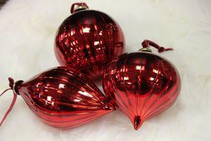 Červené závesné vianočné ozdoby 3-set  10cm