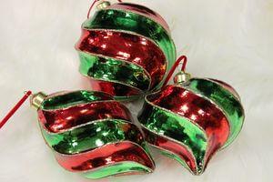 Červeno zelené vianočné ozdoby 3-set