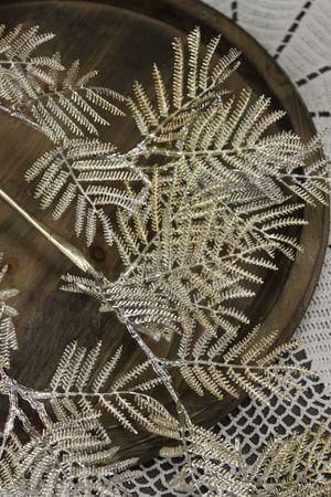 Šampáň dekoračný konár mimóza 84cm