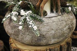 Hnedo krémová patinovaná keramická váza 30cm