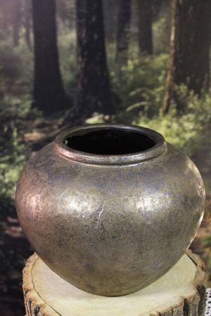 Hnedá patinovaná váza 25cm
