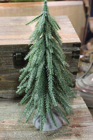 Zelený ligotavý stromček 30cm