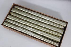 Zlaté metalické kónické sviečky 12ks 24cm