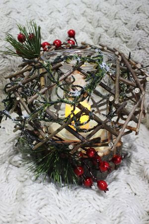 """Svietnik vianočný tradičný ,,Les"""", 30 cm"""