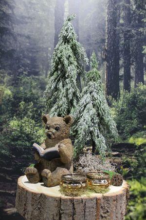 """Vianočný aranžmán ,,Medvedík v lese"""", 60 cm"""