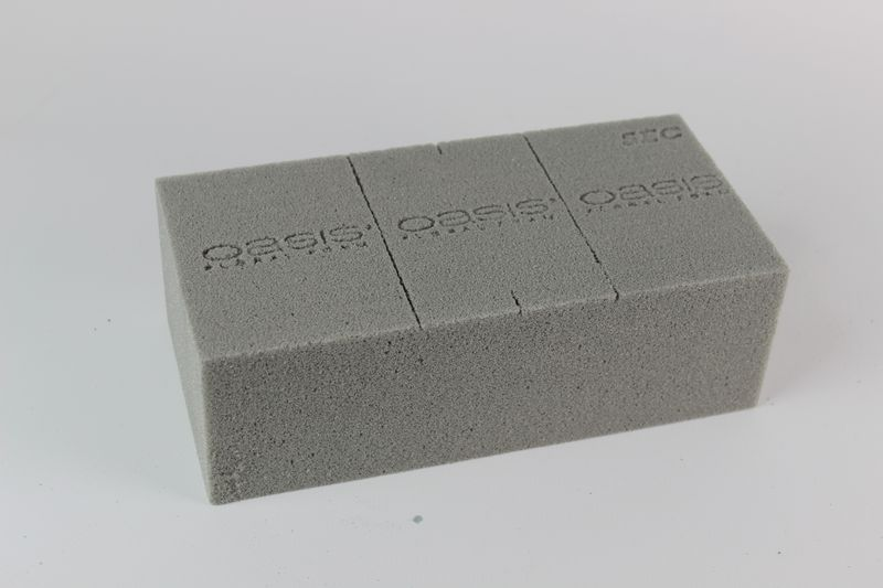 Sivý florex suchý 23x11x8 cm klasik 1ks