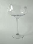 Priehľadný sklenený dekoračný pohár na stopke 40cm