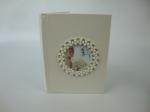 Krémový svadobný elegantný zdobený fotoalbum
