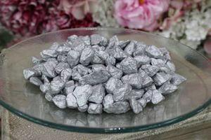 Strieborné veľké dekoračné kamene 1kg