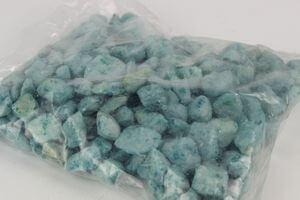 Modré veľké dekoračné kamene 1kg