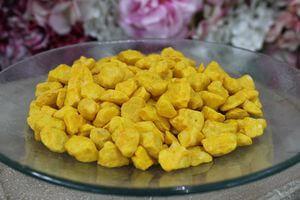 Žlté veľké dekoračné kamene 1kg