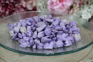 Fialové veľké dekoračné kamene 1kg
