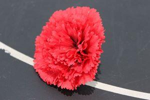 Červené umelé karafiáty hlavy 12ks 8cm