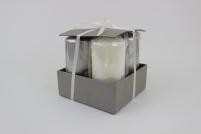 Sivé a biele adventné sviečky 15 x 7cm