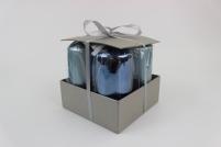 Modré sviečky v tvare valca vysoké 4 ks