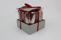Medené sviečky v tvare valca vysoké 4 ks