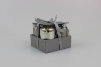Šampaň sviečky v tvare valca 4 ks