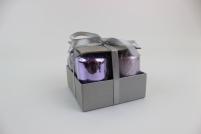 Fialové sviečky v tvare valca 4 ks