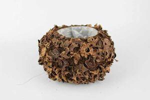 Hnedá okrúhla prírodná nádoba 24cm