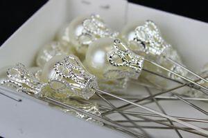 Luxusné perlové zapichovačky 24ks