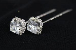 Luxusné spony s diamantom 12 ks