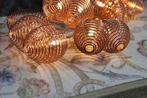 Medená vianočná svetelná reťaz z lampiónov 160cm