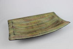 Žíhaná keramická hranatá miska na ovocie 41cm