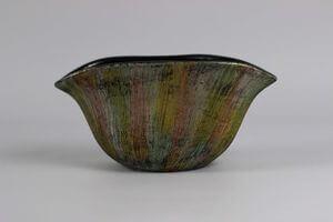 Žíhaná keramická váza 21cm