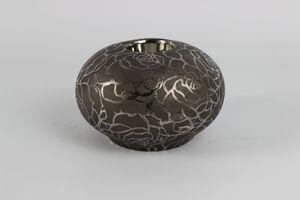 Sivý keramický svietnik na čajovú sviečku 15cm